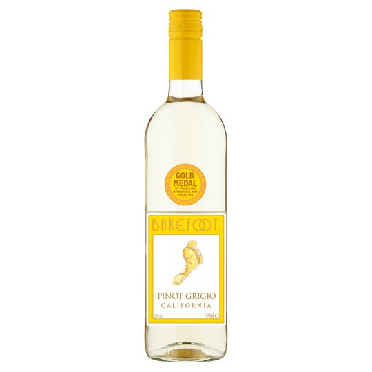 Barefoot Pinot Grigio- best white wine for Thanksgiving