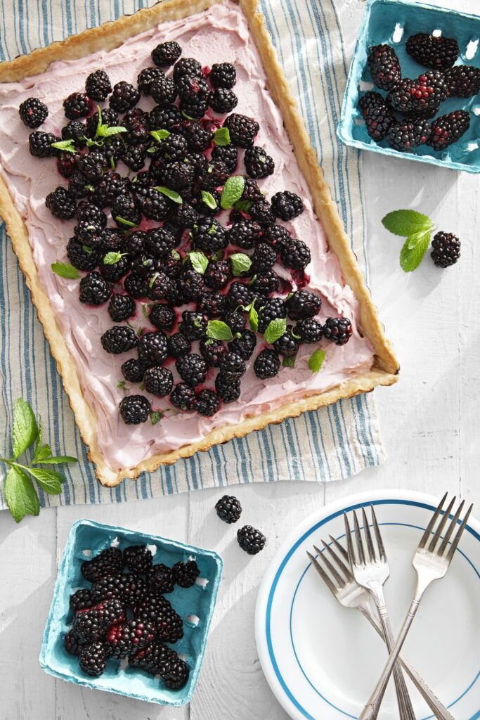 Blackberry Tart- cool Thanksgiving desserts