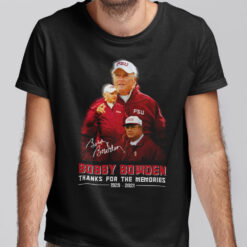 Bobby Bowden T Shirt Thanks For The Memories 1929-2021