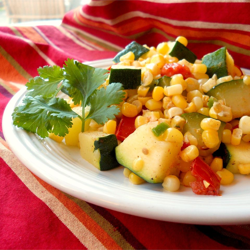 Calabacitas con Elote (Zucchini with Corn)- corn dishes for Thanksgiving