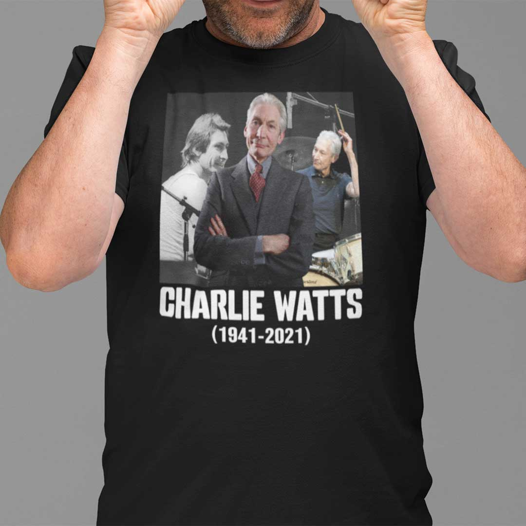 Charlie Watts T Shirt 1941- 2021