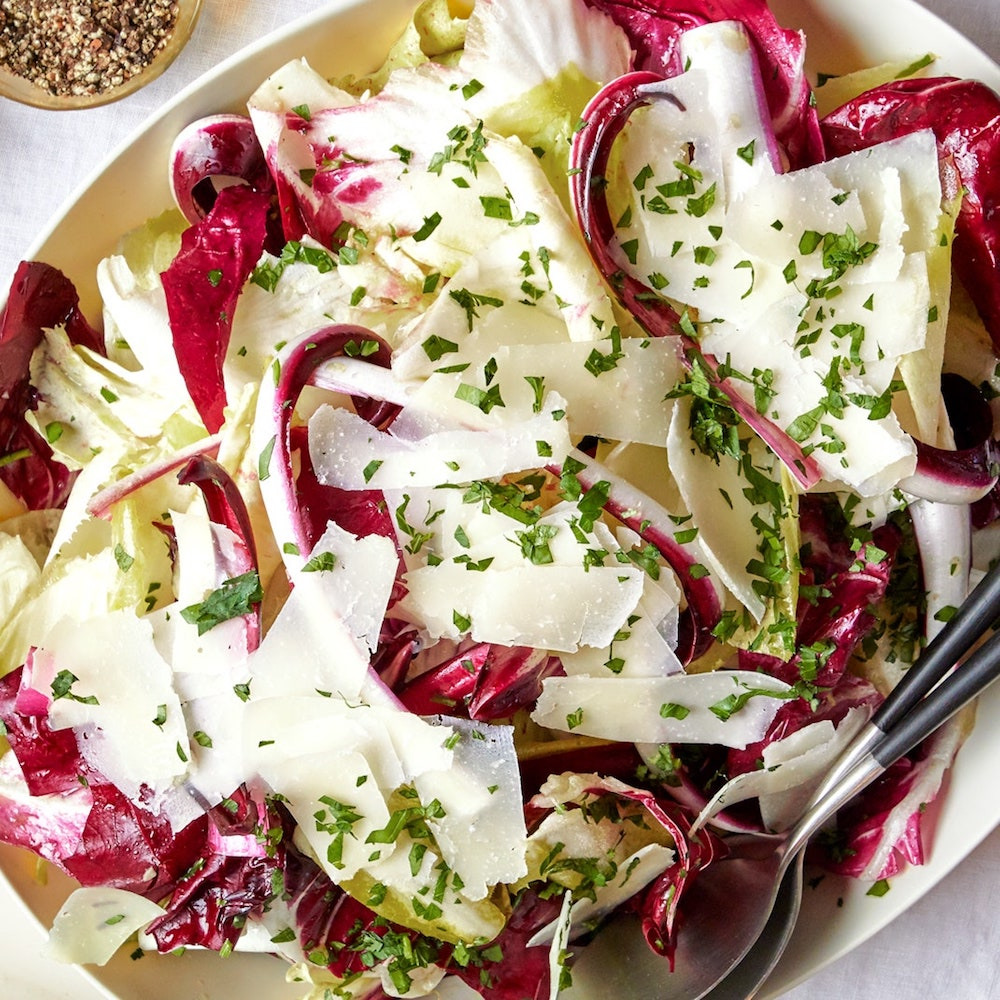 Chicory Caesar Salad- best salad recipes for Thanksgiving dinner