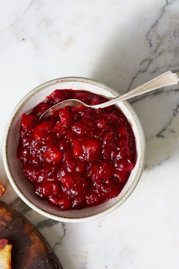 Citrusy Cranberry-Apricot Compote- cool food ideas for Thanksgiving