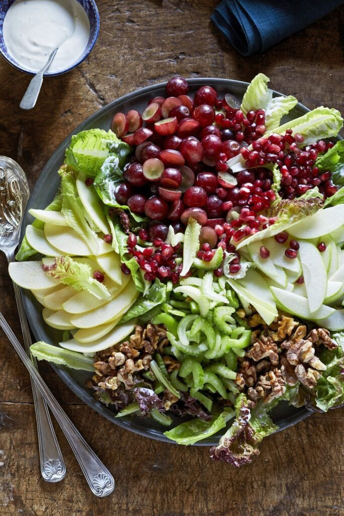 Composed Waldorf Salad- best salad recipes for Thanksgiving dinner