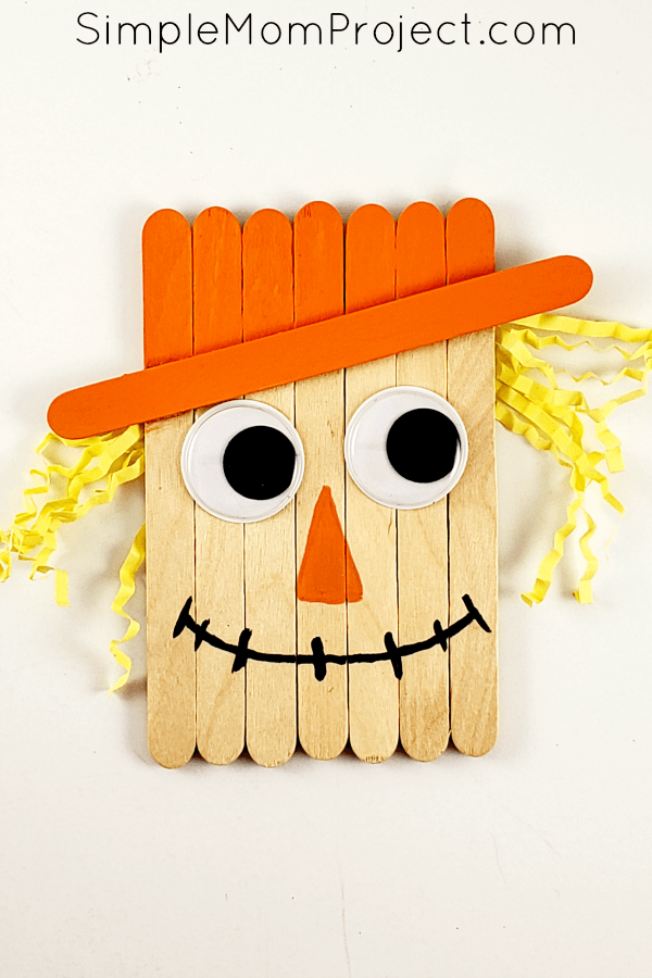 Craft Stick Scarecrow- great Thanksgiving crafts for young children