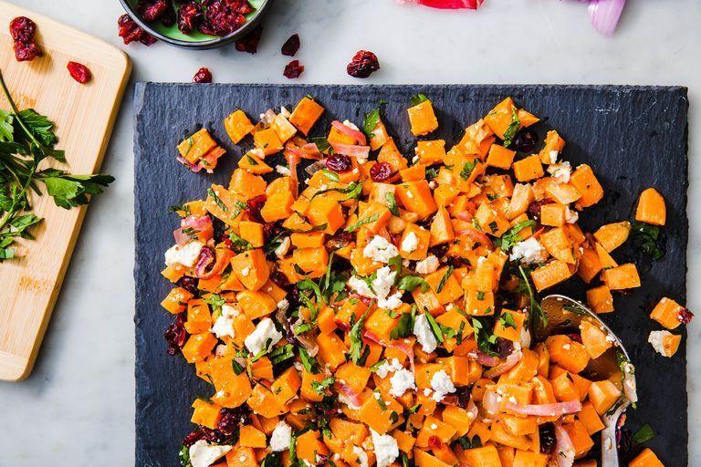 Cranberry Sweet Potato Salad- best salad recipes for Thanksgiving dinner