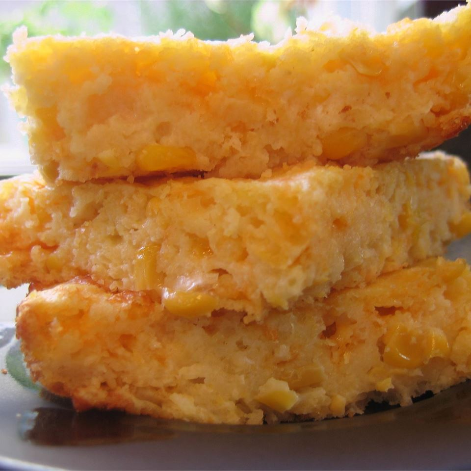 Creamy Cornbread Casserole- good corn dishes for Thanksgiving