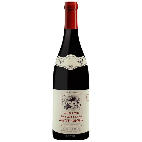 Domaine des Billards Saint-Amour 2018- best type of wine for Thanksgiving dinner.