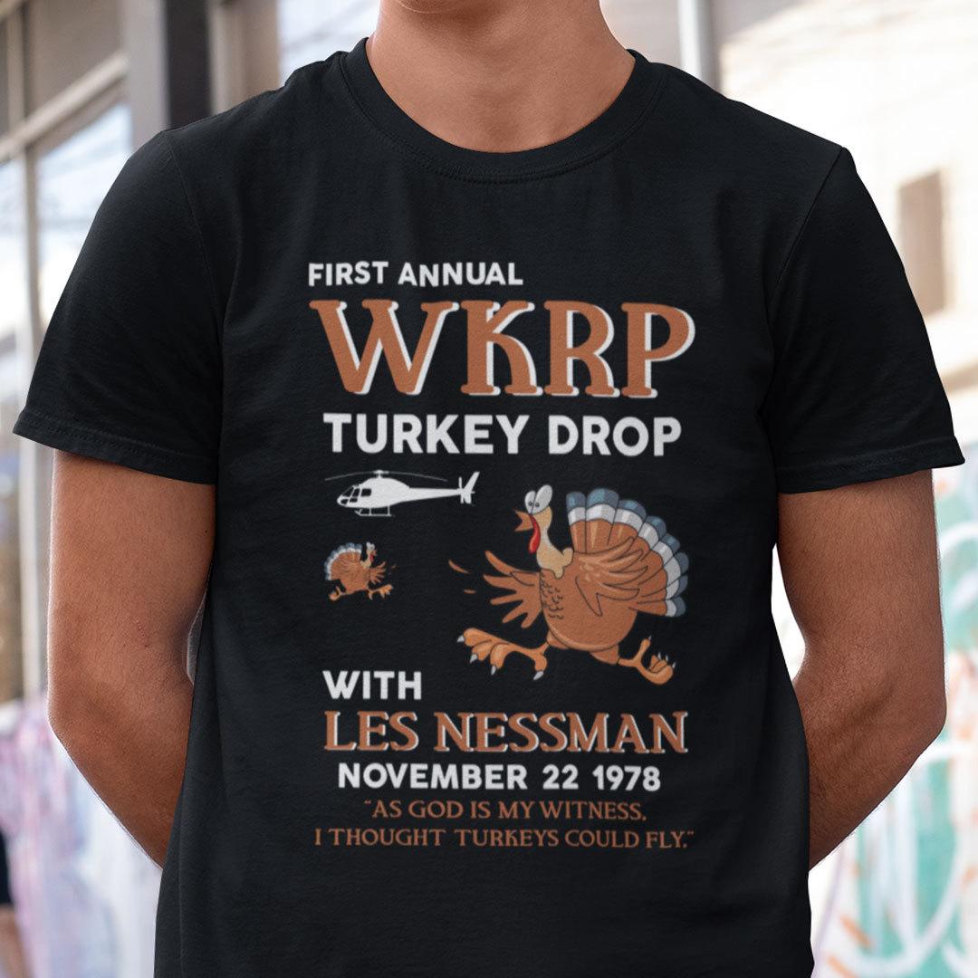 First Annual WKRP Thanksgiving Day Turkey Drop T Shirt