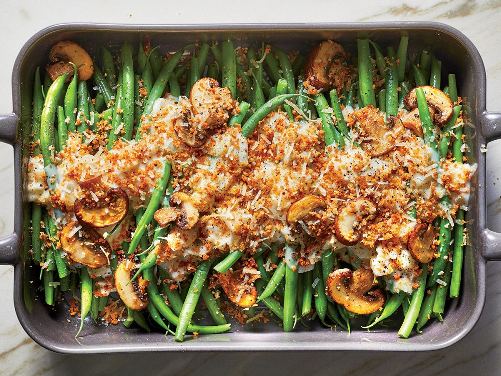 In the List Of Thanksgiving Foods, this Green Bean Casserole is a must-have dish!
