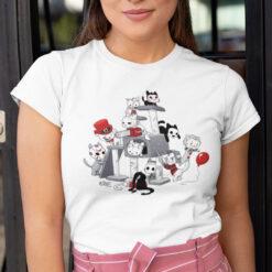 Halloween Cat T Shirt Cat Lovers