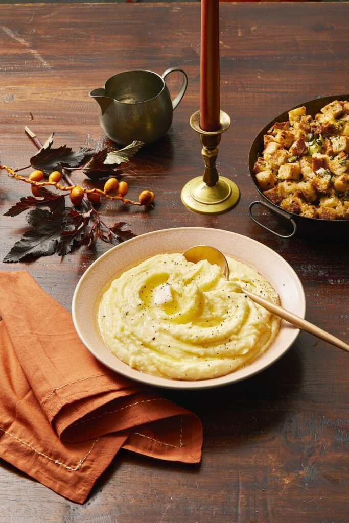 Herbed Mashed Potatoes- cool food ideas for Thanksgiving
