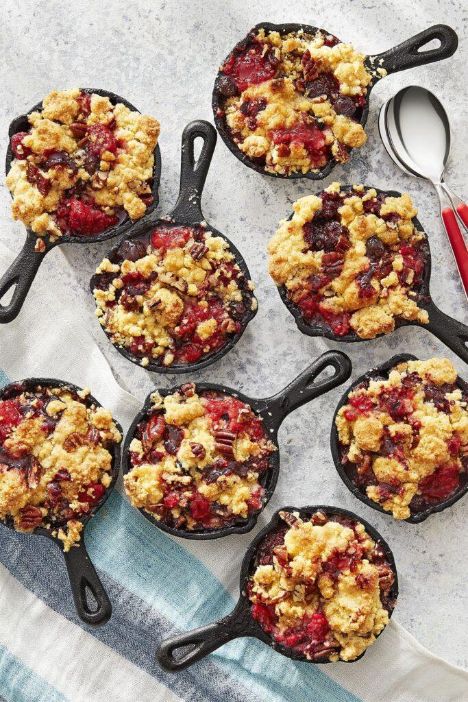 Jiffy Mixed Berry Cornmeal Cobbler- cool Thanksgiving desserts