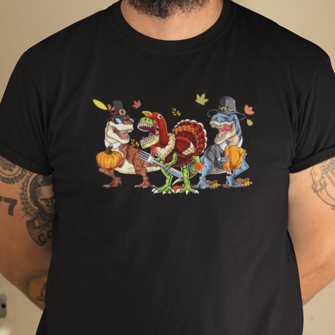 Official Thanksgiving Dinosaur T Shirt