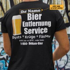 Personalisiertes Bier-Entfernungs-Service-Shirt