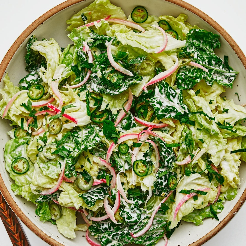 Spicy and Creamy Slaw- best salad recipes for Thanksgiving dinner