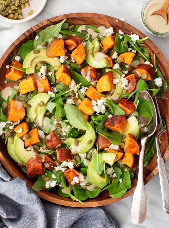 Sweet Potato Salad- best green salad for Thanksgiving