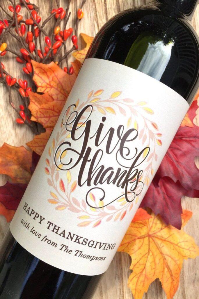 Thanksgiving Wine Label