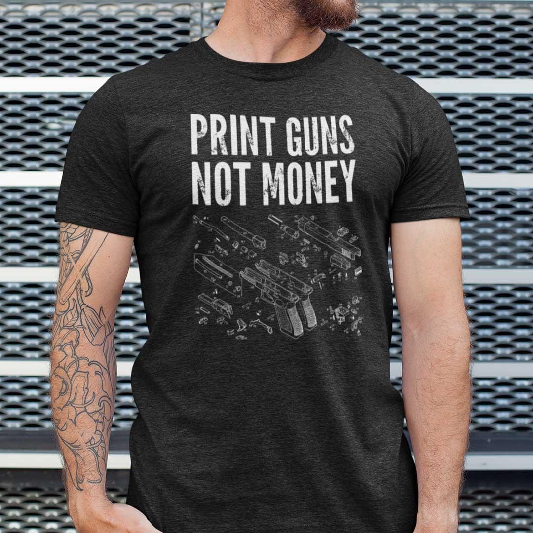 Trending Print Guns Not Money Shirt