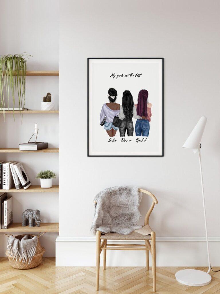 Custom Best Friend Print