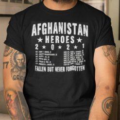 Afghanistan Heroes T Shirt Fallen But Never Forgotten