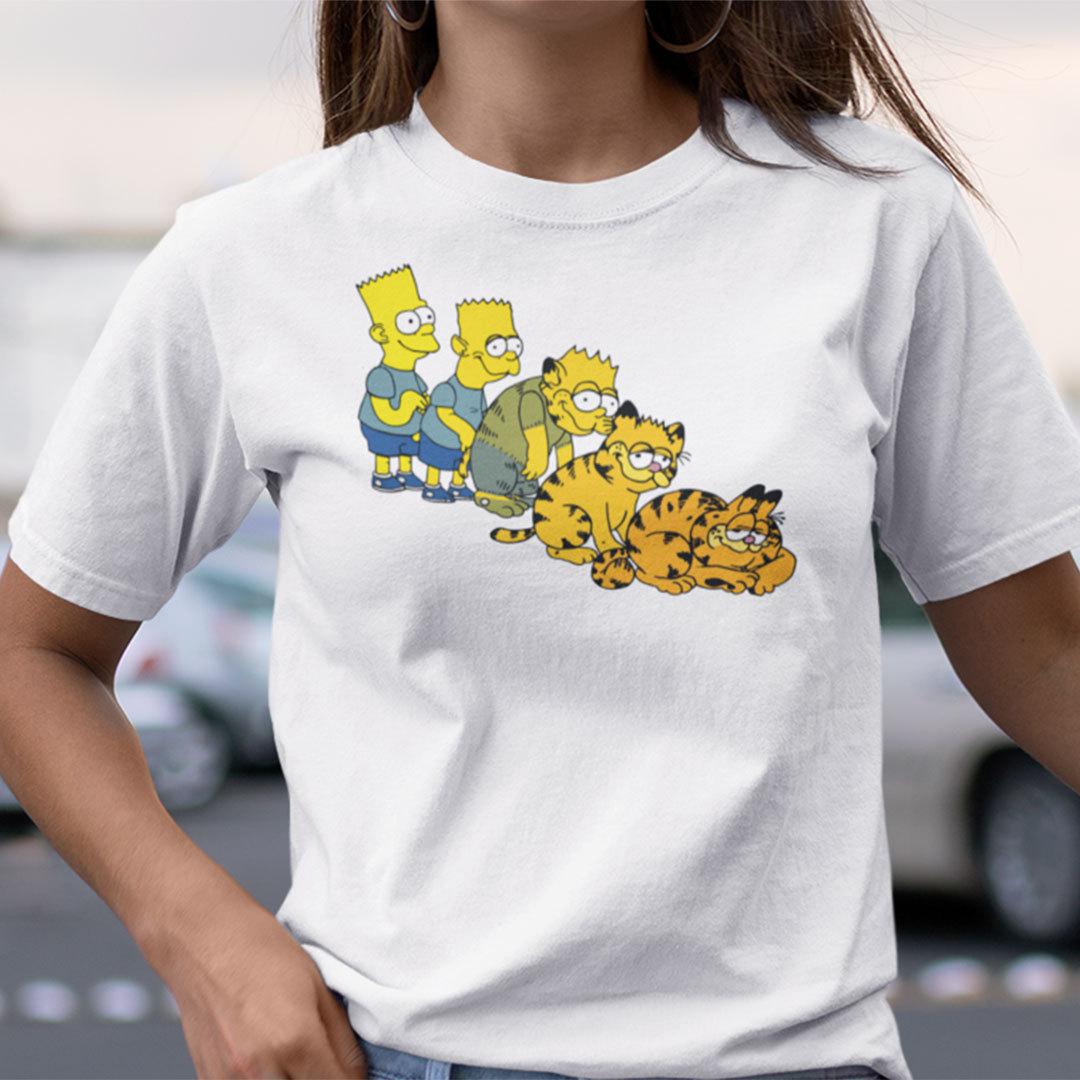 Bart Simpson Bart To Garfield Animorph ShirtGarfield Cat Shirt