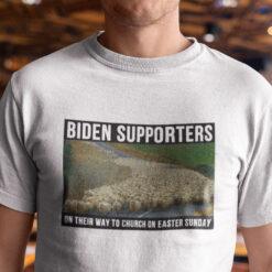 Biden Supporters On The Way To Church Shirt Anti Biden