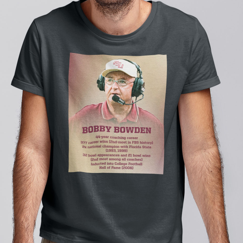 Bobby Bowden Shirt 44 Year Coaching Career 377 Wins