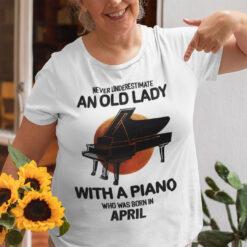 Music, Piano, Old Lady, April Birthday, Birthday Gift
