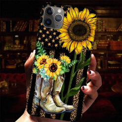 Sunflower Boots Phone Cases American Flag Leonard Print