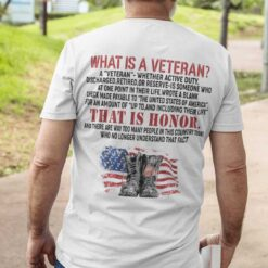 What Is A Veteran T Shirt That Is Honor