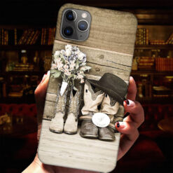 Boots Flowers Phone Case