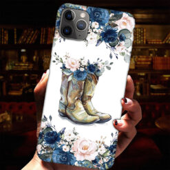 Boots With Flowers Phone Case