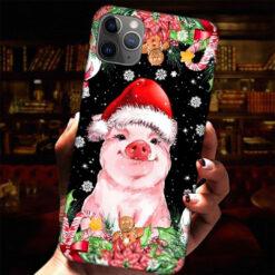 Christmas Pig Santa Hat Phone Case