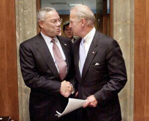 Colin Powell Biden- Biden mourns the loss of Colin Powel