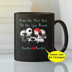 From Our First Kiss Till Our Last Breath Couple Halloween Mug