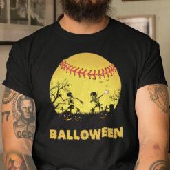 Funny Balloween T Shirt Baseball Lover Halloween Tee