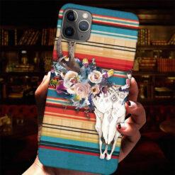 Hippie Floral Skull Cow Phone Case