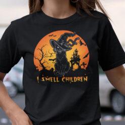 I Smell Children Shirt Hocus Pocus Cat Halloween