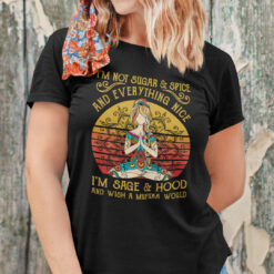I'm Not Sugar Spice And Everything Nice Yoga Shirt Morticia Addams