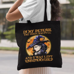 In My Defense The Moon Was Full Halloween Tote Bag