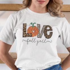 Love Fall Y'all Shirt Happy Halloween