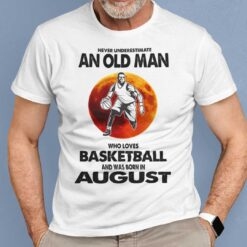 Never Underestimate Old Man Who Loves Basketball Shirt August