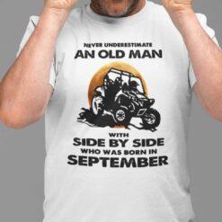 Never Underestimate Old Man Who Loves Football Shirt September