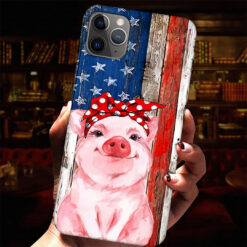 Pig Bandana American Flag Phone Case