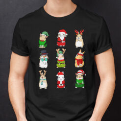 Rabbit Christmas Shirt I Love Rabbits Happy Christmas