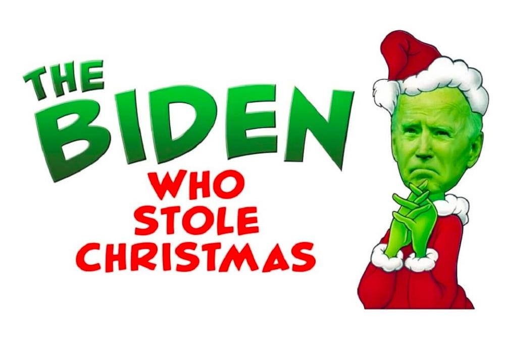 The Biden who stole Christmas hashtags