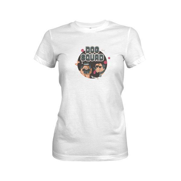 Dog Squad T Shirt White