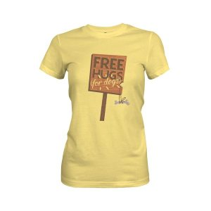 Free Hugs For Dogs T Shirts Banana Cream