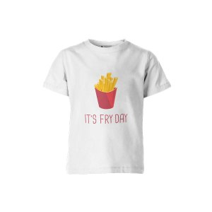 Its Fry Day T Shirt White